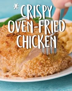Crispy Oven-Fried Chicken -Tasty - Food Videos And Recipes Crispy Oven Fries, Fries In The Oven, Chicken Recipes Video, Fried Chicken Recipes, Healthy Lunch Meat, Crispy Oven Fried Chicken, Cooking Recipes, Healthy Recipes, Cooking Corn