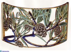 René Lalique. 'Pine Cone' Dog Collar Plaque