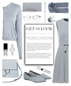 """""""One Color, Head to Toe"""" by glamorous09 ❤ liked on Polyvore featuring Chloé, RED Valentino, Bomedo, MICHAEL Michael Kors, Kate Spade, JINsoon, Miss Selfridge, BeckSöndergaard, Montblanc and By Terry"""