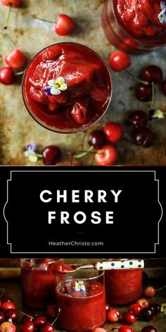 Fresh cherries pureed with rose and frozen- then you puree it into a fine slushy that will delight EVERYONE! It's a party favorite! Summer Cocktails, Cocktail Drinks, Fun Drinks, Yummy Drinks, Cocktail Recipes, Beverages, Kids Milkshake Recipes, Protein Shake Recipes, Fruit Smoothies