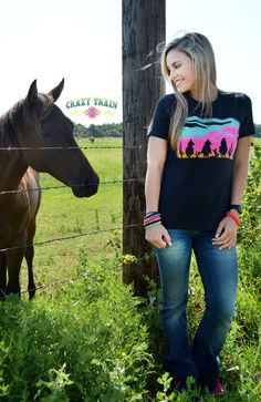 New Crazy Train Clothing Wide Open Spaces Black Shirt Small to 3XL Cowgirl Farm  #CrazyTrain #Tshirt #Any