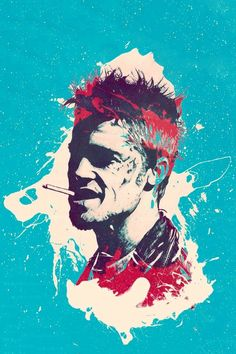 Tyler Fight Club, Fight Club Tattoo, Fan Poster, Club Poster, Marla Singer, Tyler Durden, Alternative Movie Posters, Abstract Drawings, Creative Portraits