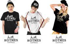 Hotmes Express Fashion Designer Mens Womans T-shirt Tshirt Black White Gold NEW