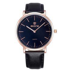 d297c467351 Luxury Leather Watch Japan Quartz Movt 5 Colors. Relógios Masculino De ...