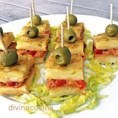 Ideas que mejoran tu vida Appetizer Buffet, Appetizer Recipes, Snack Recipes, Cooking Recipes, Tapas Spain, Spanish Cuisine, Tapas Bar, Tasty Bites, Chicken Salad Recipes