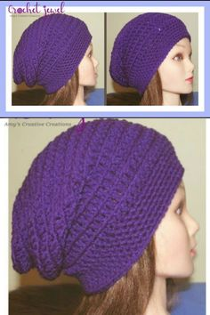 How to Crochet an Easy Slouchy Hat Tutorial FOR BEGINNERS #crochet #crochethat #crochetslouchyhat #slouchyhat #crochetpattern Crochet Tutorials, Easy Crochet Patterns, Knitting Patterns, Crochet Hooks, Free Crochet, Hat Storage, Crochet Slouchy Hat, Hat Tutorial, Knitting Needles