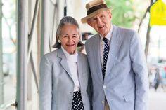 Apaixone-se por casais velhinhos que se vestem de forma parecida