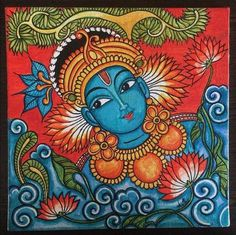 Items similar to Kerala mural paintings on Etsy - - Indian Traditional Paintings, Indian Art Paintings, Pichwai Paintings, Abstract Paintings, Traditional Art, Landscape Paintings, Kalamkari Painting, Madhubani Painting, Madhubani Art