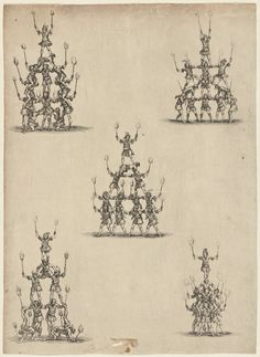 A Visual History of the Human Pyramid - Atlas Obscura Circus Acrobat, Circus Art, Human Pyramid, Cheerleading Pyramids, Michigan Colleges, Italian Artist, New York Public Library, Museum Of Fine Arts, National Museum