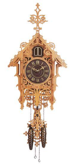 Clock Plans: Monadnock Cuckoo Clock Plan   Klockit
