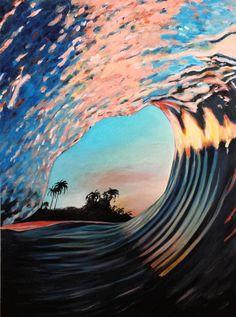 """Epic Day"", wave painting by Karlin Meehan www. Ocean Wallpaper, Summer Wallpaper, Scenery Wallpaper, Cute Wallpaper Backgrounds, Pretty Wallpapers, Aesthetic Pastel Wallpaper, Aesthetic Wallpapers, Beautiful Landscape Wallpaper, Beautiful Scenery"