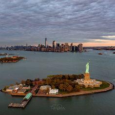 """Harbor Views @NYCDailyPics @nycfeelings @ABC7NY @NYC @TheWorldStories @StatueEllisNPS @TravelLeisure #newyork #nyc @WingsAirHeli #Manhattan"""