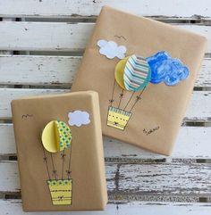 pacchetti regalo con mongolfiera fai da te Creative Gifts For Girlfriend, Handmade Gifts For Boyfriend, Simple Birthday Cards, Diy Birthday, Craft Gifts, Diy Gifts, Regalo Baby Shower, Birthday Packages, Gift Wrapper