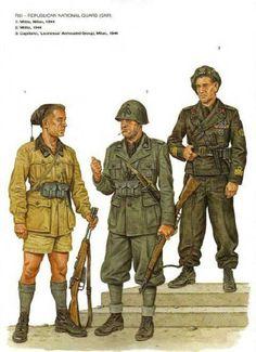 Guardia Nazionale Repubblicana uniforms, pin by Paolo Marzioli