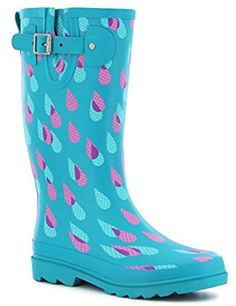 762c9f1eec3b Western Chief Womens Dotty Downpour Rain Boots Waterproof Pull-on Wide  Width - JCPenney