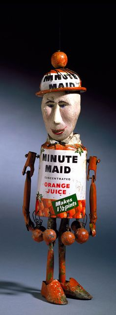 Vintage Minute Maid Orange Juice Can Man, 1950's PD