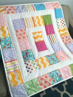 Simple Modern Baby Quilt Pattern Free Baby Wild Boy Quilt Pattern ...