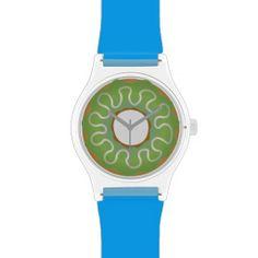 lime donut wristwatch.