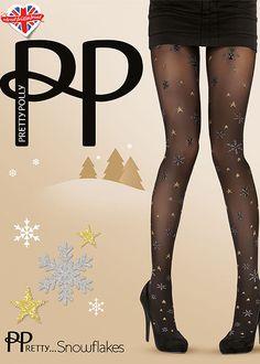 Rudolph Robins Elves Snowflakes Pretty Polly Christmas Festive Hosiery Santa