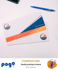 DL compliment slips printed on premium uncoated paper. Ideal to add professional handwritten notes to any business communications. Compliment Slip, Smudging, Compliments, Ireland, Slip On, Notes, Range, Templates, Writing