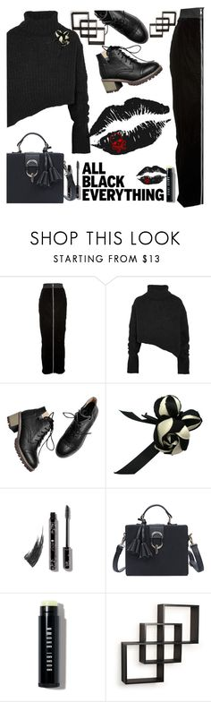 """All Black Everything"" by lustydame ❤ liked on Polyvore featuring Puma, Ann Demeulemeester, Chanel, Bobbi Brown Cosmetics and Danya B"