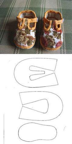 Sapatinho e desenho do molde