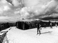 Sunny Photograph - Predeal by Cuiava Laurentiu Canvas Prints, Framed Prints, Wood Print, Skiing, Black And White, Wall Art, Film, Artwork, Photography