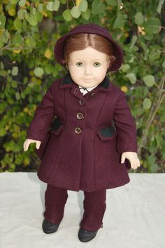American Girl Doll 1950s Coat with leggings by The2ndLifeMercantile on Etsy