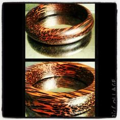 Different design of coconut wood braceletcuff by 3bluee on Etsy, $14.00