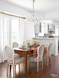 Remodel your home in an affordable way by following the budget secrets and strategies of this thrifty homeowner. A few of her practical tips: refurbishing old pieces, a DIY dining chair makeover and built-in cabinetry.