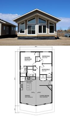 Warman Homes - #1565 Mt. Komrie :: 1281 sq. ft. I would turn the bathroom and half bath into one bathroom and one of the other bedrooms into a bathroom and walk-in closet.