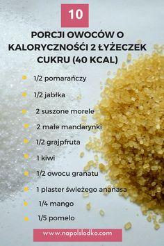 zamiast słodzenia Sugar Free Sweets, Kiwi, Mango, Healthy Eating, Food, Diet, Pineapple, Manga, Sugar Free Candy