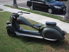 "1959 Vespa vba 150cc, custom Vespa-chop & stretched 12""in & dropped 2""in"