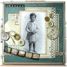 Kreativ Hobby - stempler, scrapping, kortlaging og papirhobby Knapper - tips til bruk av knapper på kort Stamps, Peach, Scrapbooking, Baseball Cards, Personalized Items, Hobbies, Seals, Peaches, Scrapbooks