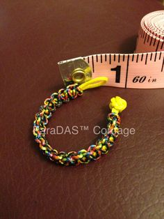 MicroCord Cobra Ring with Diamond Knot & Loop closure.
