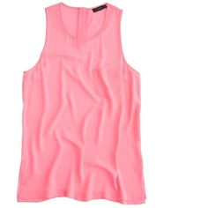 J.Crew Pocket Tank Top ($79) ❤ liked on Polyvore featuring tops, tank tops, tops/outerwear, draped tank top, layering tanks, drapey tank, pocket tanks and j crew top