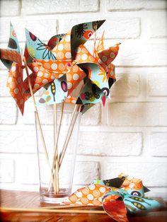 Orange party : pinwheels
