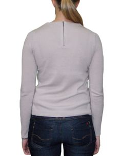 Back - Cashmere sweater with sweet leather pockets in the front ...