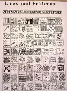 lines and patterns...I made a similar poster for the kids' school room. It was fun to make and I learned some new drawing skills.: