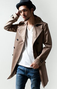 Coat Style For Man, Classy Outfits, Cool Outfits, Cool Style, My Style, Japanese Men, Asian Style, Dapper, Casual Wear