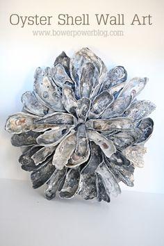 Oyster Shell Art. beach theme bathroom! I always KNEW there was a purpose for these!