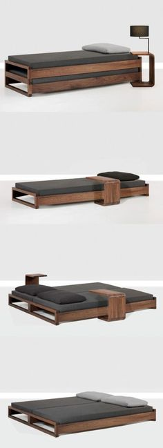 bed transformer - such a cool design for a small space