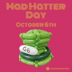 Today is mad hatter day!! Wear a hat that is mad. #madhatterday  .  .  .  .  .  .  #halloween #balloonart #balloon #balloontwisting #boston #balloonartist #smallbusiness #party #entertainment #entrepreneur #evententertainment #Bostonballoonartist #birthdayparty #Balloondecorations #balloonbirthday #balloonsculptures #todayis #balloonbender #lids #balloonalicious #hats #aliceandwonderland #disneyfans #timburton #balloondude #balloonstowear #costume #cosplay http://ift.tt/2y7OHi9