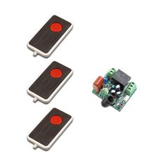 Smart Home Switch 220V Mini 1CH 10A Wireless Remote Control Switch Relay Receiver  3Transmitter  LED Light Lamp Remote ON OFF