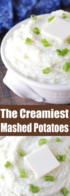 The Creamiest Mashed Potatoes Make sure everyone at your dinner table raves about how yours are the creamiest mashed potatoes ever! This recipe is perfect for the holidays as well as your regular weeknight dinners.