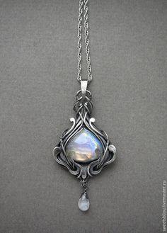 "Silver pendant ""Celeste"" (Available from: http://www.livemaster.ru/item/9502289-ukrasheniya-serebryanyj-kulon-celeste)"
