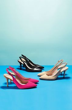The Essential Pumps: Black, Nude,  Pink
