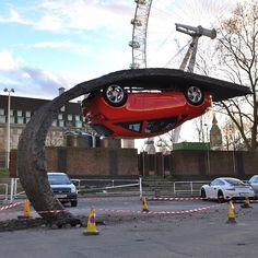 Alex Chinneck installation spotted in Southbank