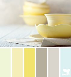dished palette  Amarillos y grises