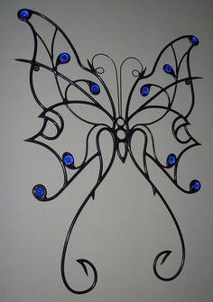 Metal Butterfly Wall Art Sculpture:metal art,insects,American made,metal sculpture,steel art Iron Wall Art, Iron Art, Metal Wall Art, Metal Butterfly Wall Art, Sculpture Metal, Wire Sculptures, Steel Art, Junk Art, Welding Art